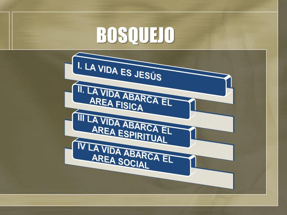 BOSQUEJO III LA VIDA ABARCA EL AREA ESPIRITUAL