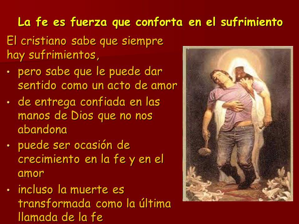 La fe es fuerza que conforta en el sufrimiento
