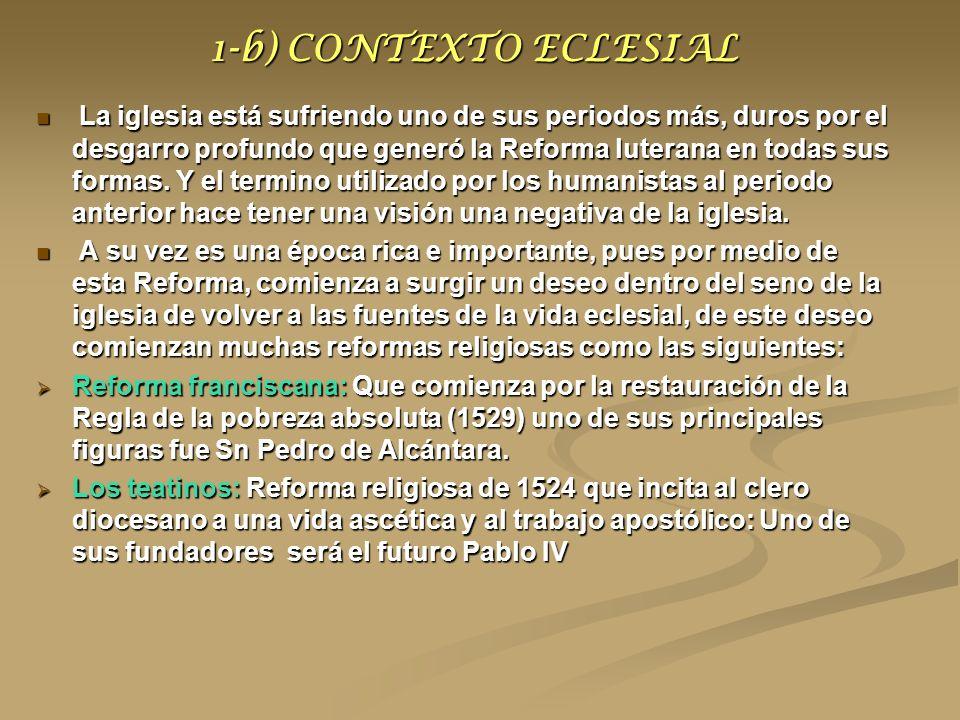 1-b) CONTEXTO ECLESIAL