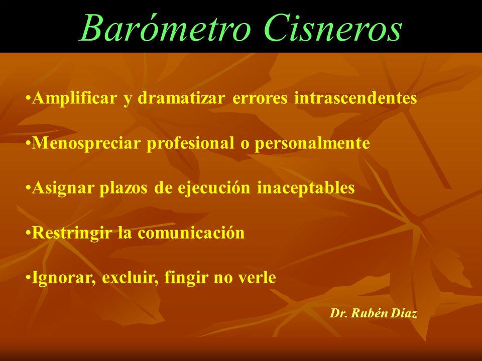 Barómetro Cisneros Amplificar y dramatizar errores intrascendentes