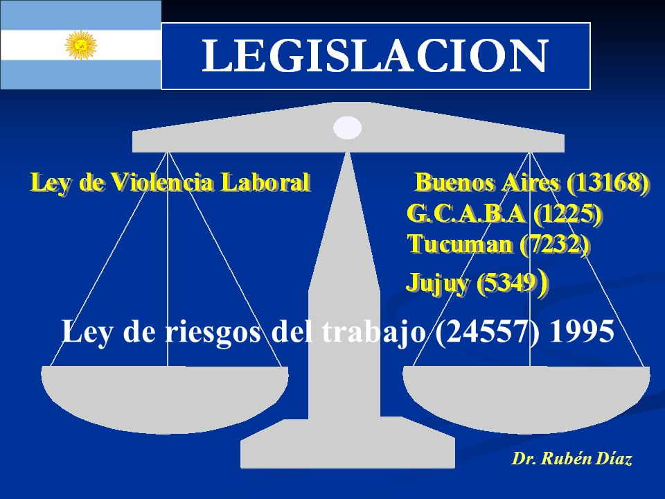 Ley de riesgos del trabajo (24557) 1995