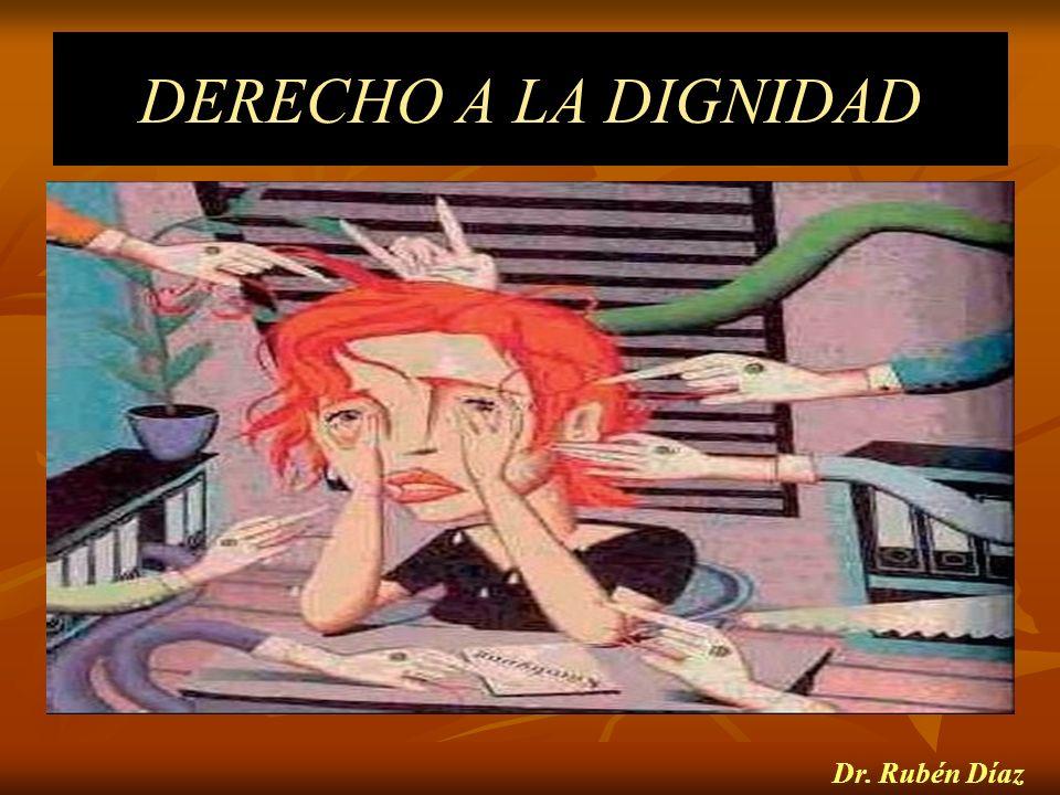 DERECHO A LA DIGNIDAD Dr. Rubén Díaz