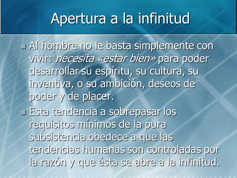 Apertura a la infinitud