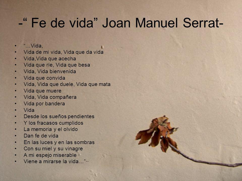 - Fe de vida Joan Manuel Serrat-