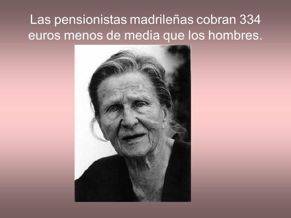 Las pensionistas madrileñas cobran 334 euros menos de media que los hombres.
