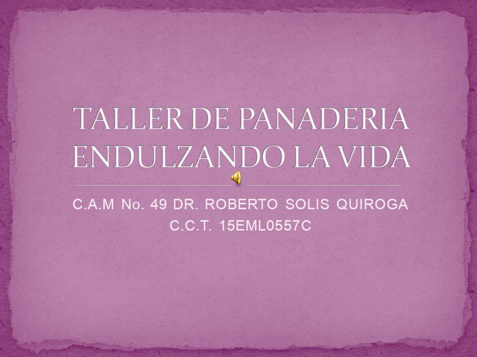 TALLER DE PANADERIA ENDULZANDO LA VIDA