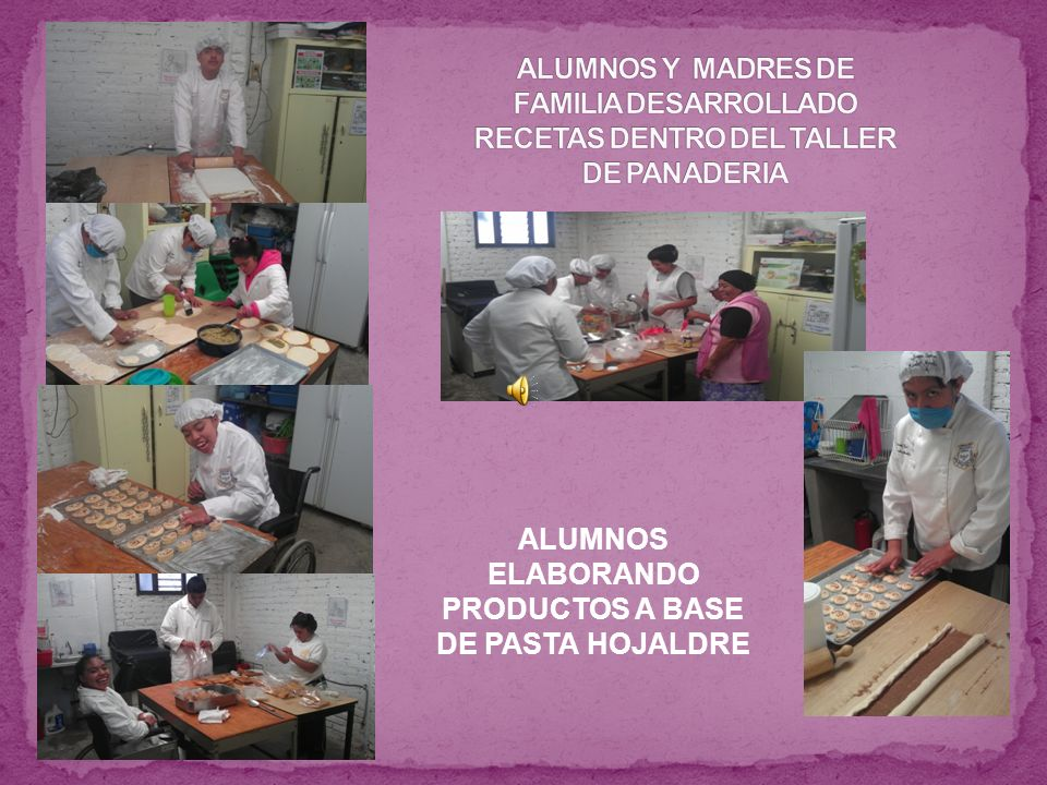 ALUMNOS ELABORANDO PRODUCTOS A BASE DE PASTA HOJALDRE