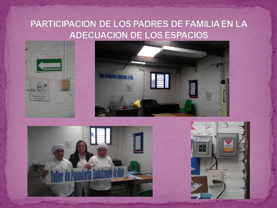 PARTICIPACION DE LOS PADRES DE FAMILIA EN LA ADECUACION DE LOS ESPACIOS