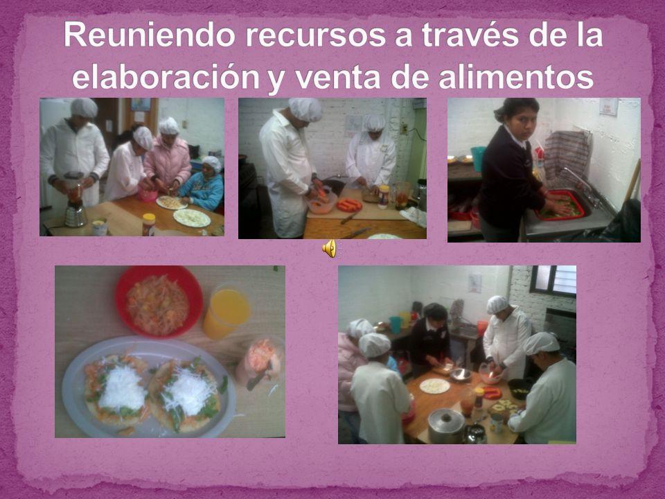 Reuniendo recursos a través de la elaboración y venta de alimentos