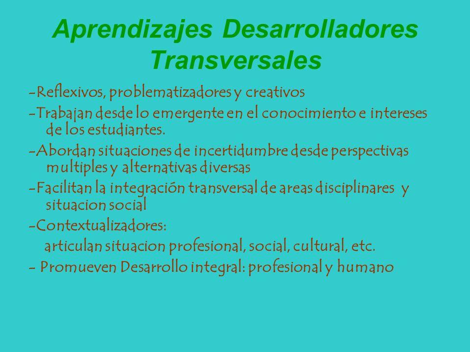 Aprendizajes Desarrolladores Transversales