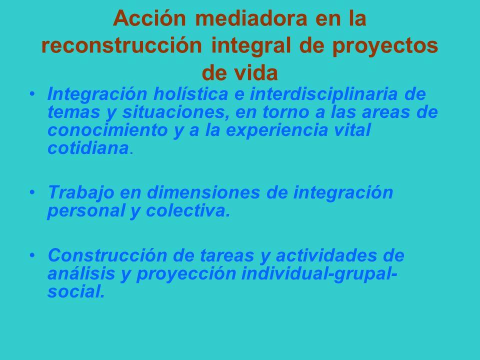 Acción mediadora en la reconstrucción integral de proyectos de vida