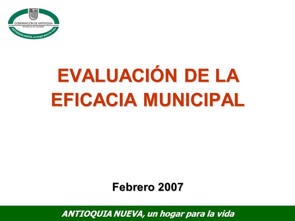 EVALUACIÓN DE LA EFICACIA MUNICIPAL