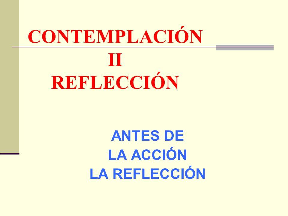 CONTEMPLACIÓN II REFLECCIÓN