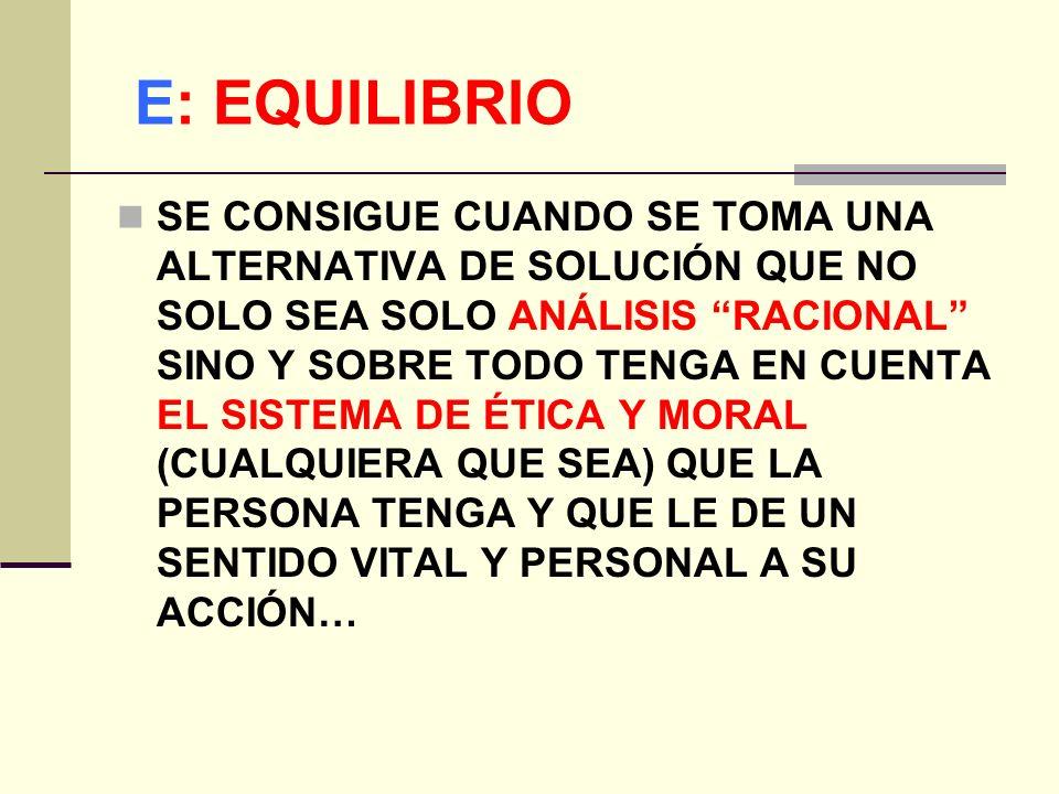 E: EQUILIBRIO