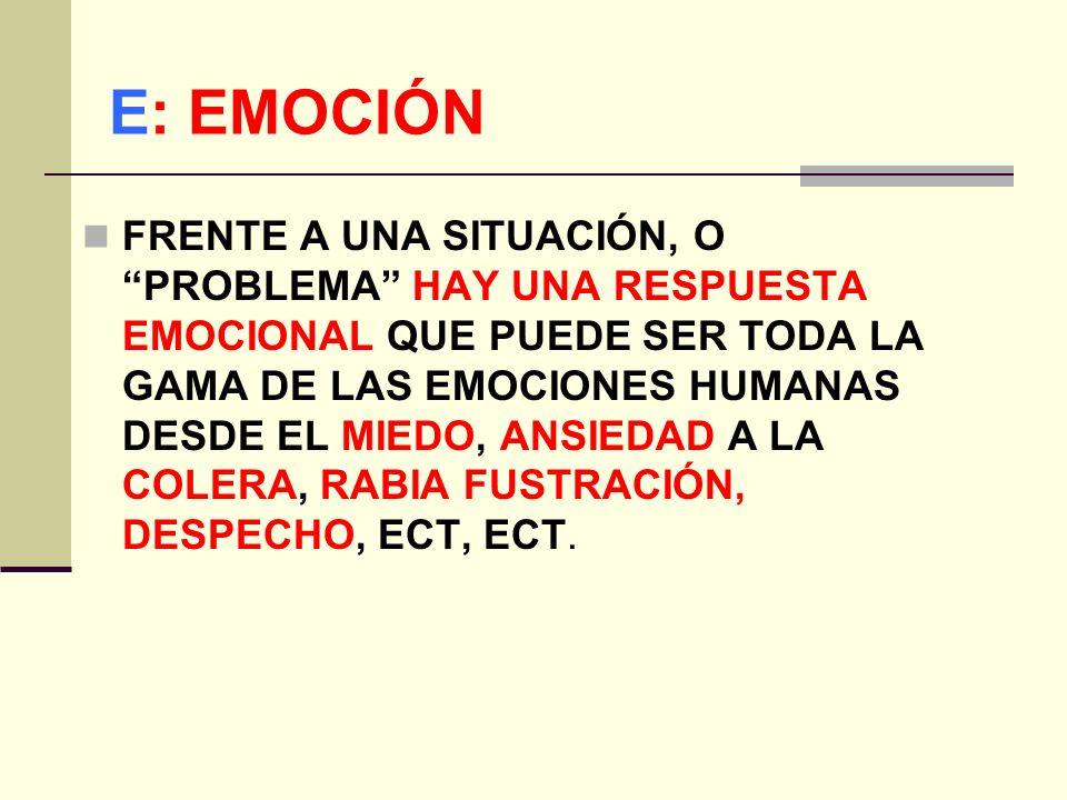 E: EMOCIÓN