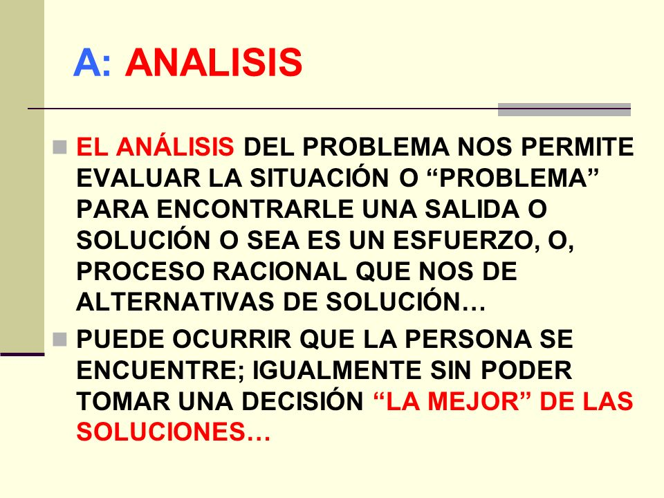 A: ANALISIS