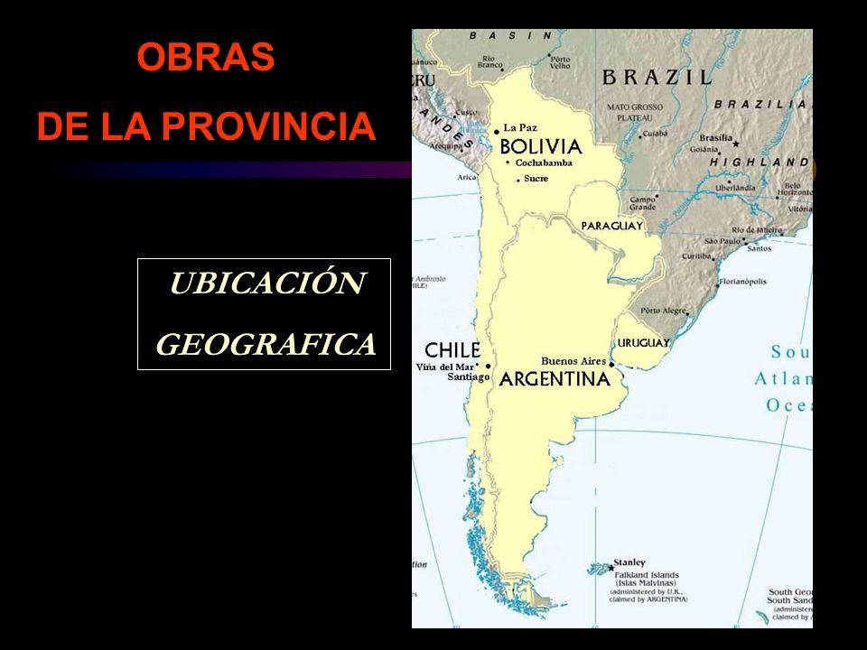 OBRAS DE LA PROVINCIA UBICACIÓN GEOGRAFICA
