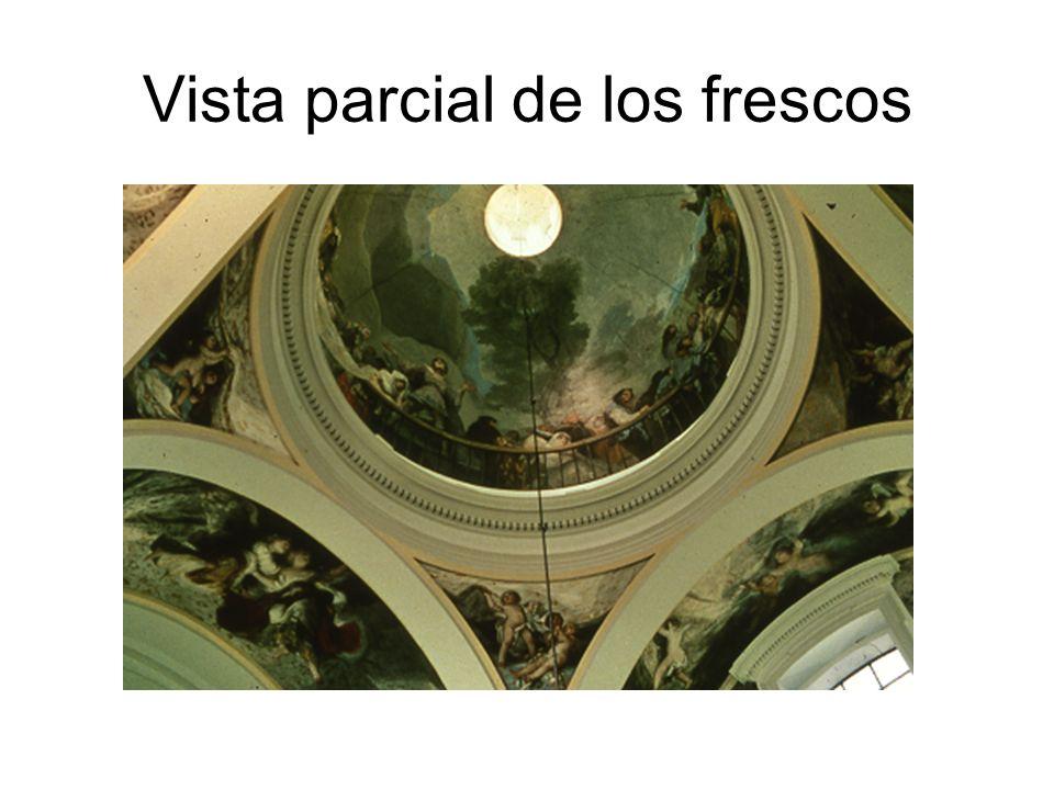 Vista parcial de los frescos