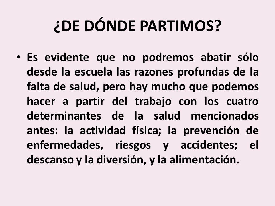 ¿DE DÓNDE PARTIMOS