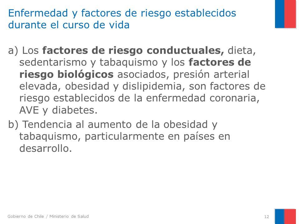 Enfermedad y factores de riesgo establecidos durante el curso de vida