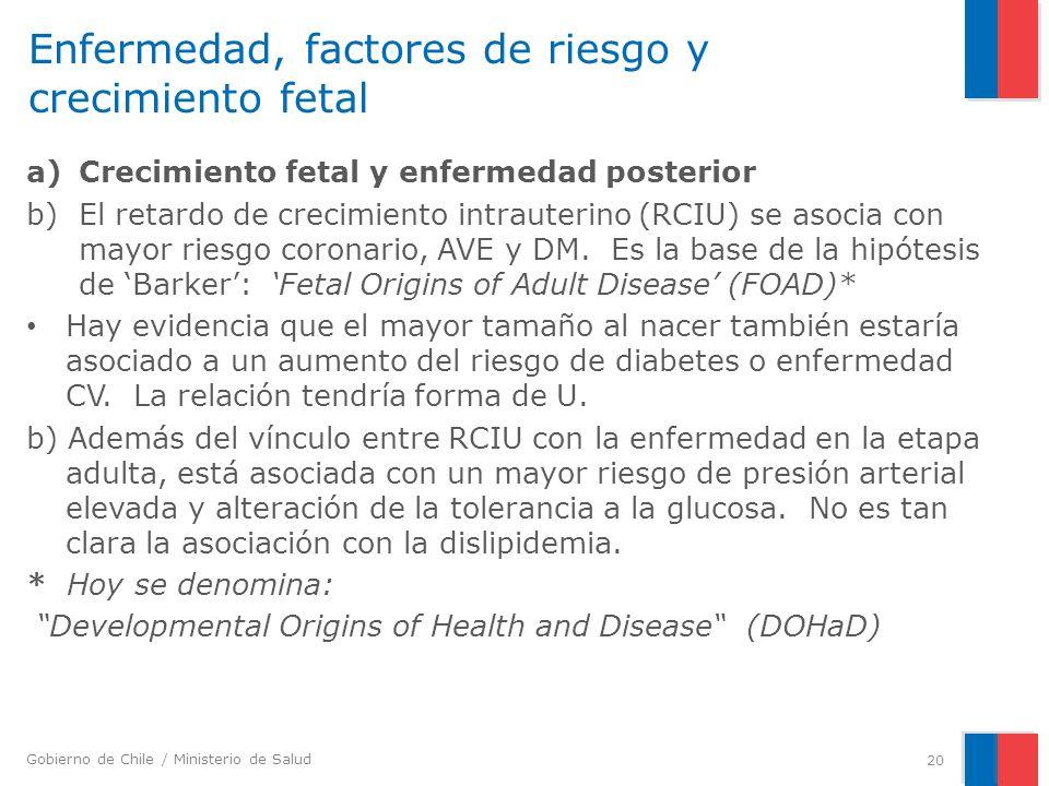 Enfermedad, factores de riesgo y crecimiento fetal
