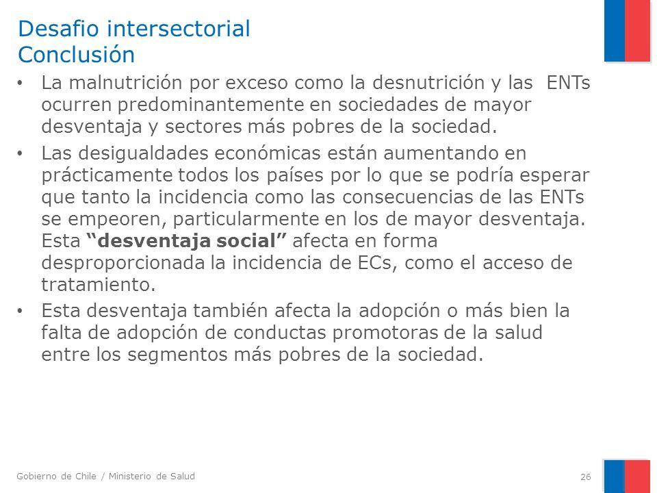 Desafio intersectorial Conclusión