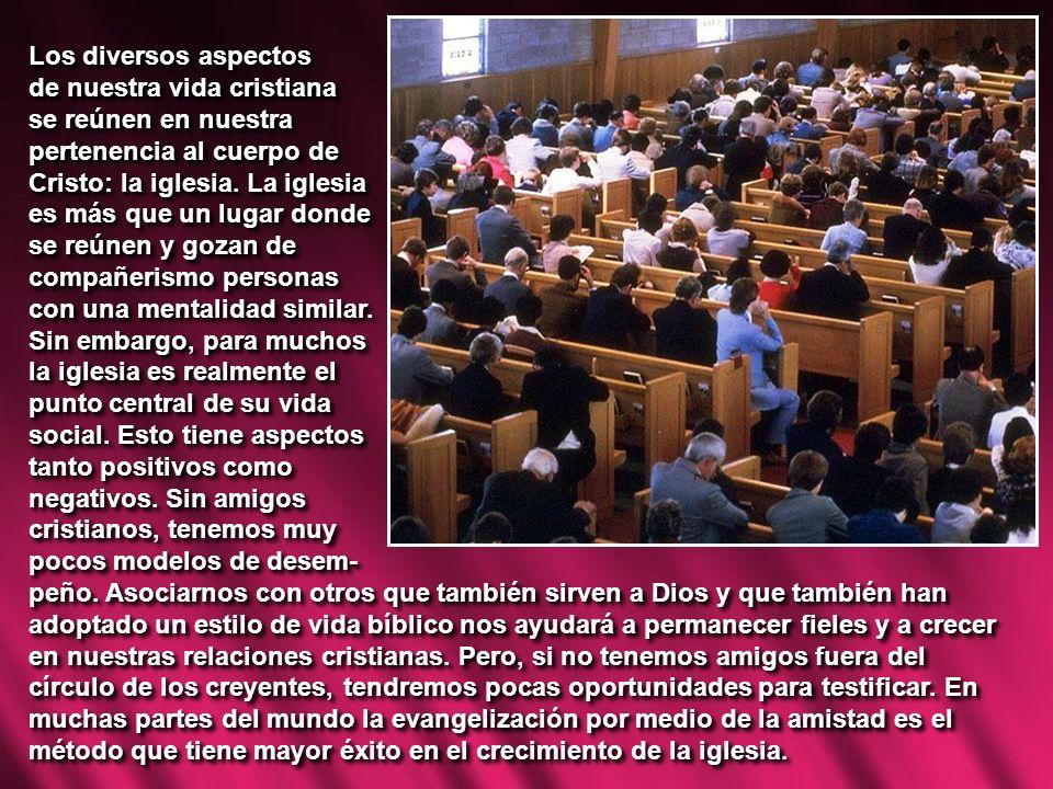 Los diversos aspectos de nuestra vida cristiana. se reúnen en nuestra. pertenencia al cuerpo de. Cristo: la iglesia. La iglesia.