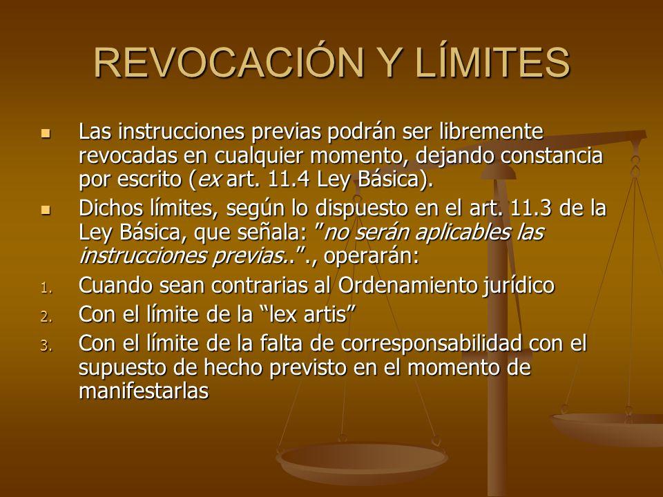 REVOCACIÓN Y LÍMITES