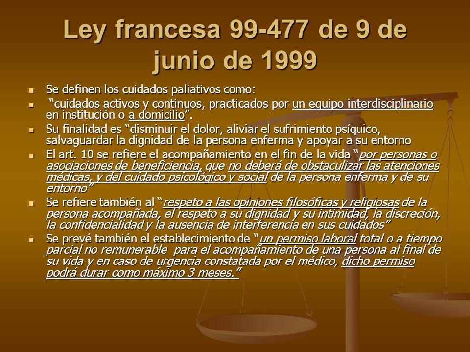 Ley francesa 99-477 de 9 de junio de 1999