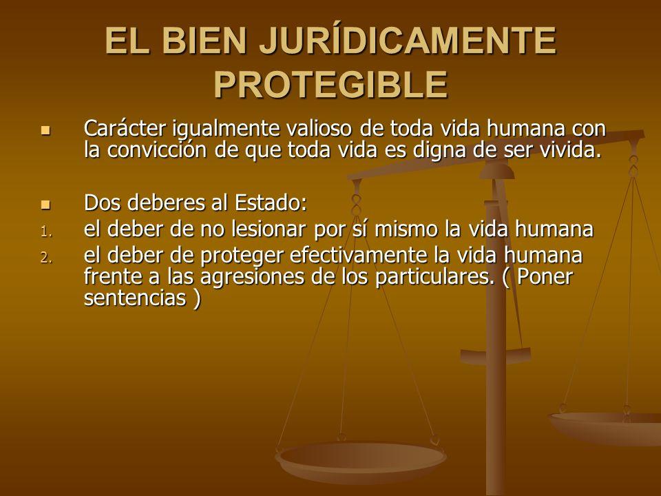 EL BIEN JURÍDICAMENTE PROTEGIBLE