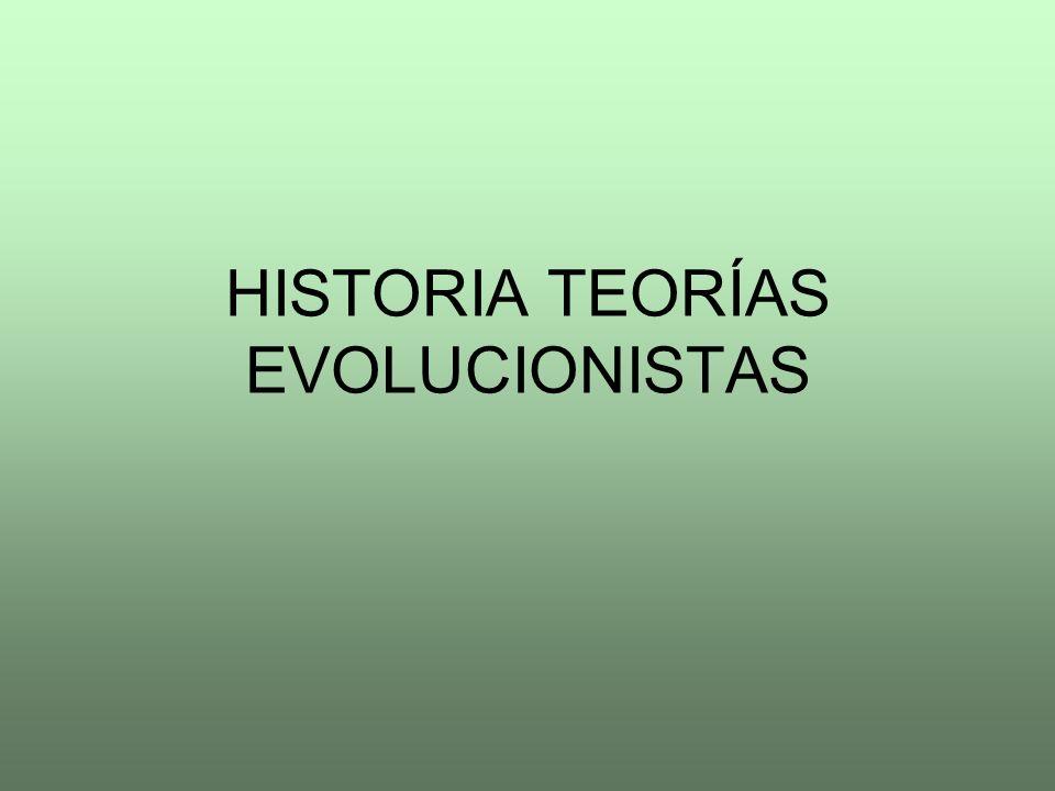 HISTORIA TEORÍAS EVOLUCIONISTAS