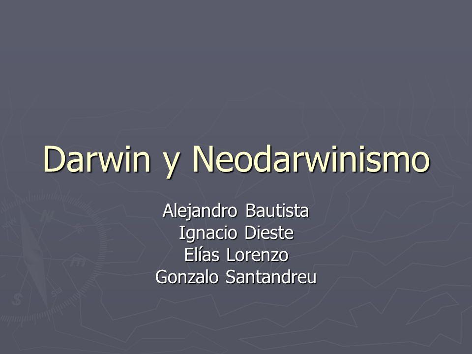 Darwin y Neodarwinismo