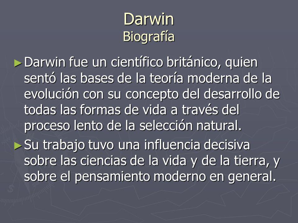 Darwin Biografía