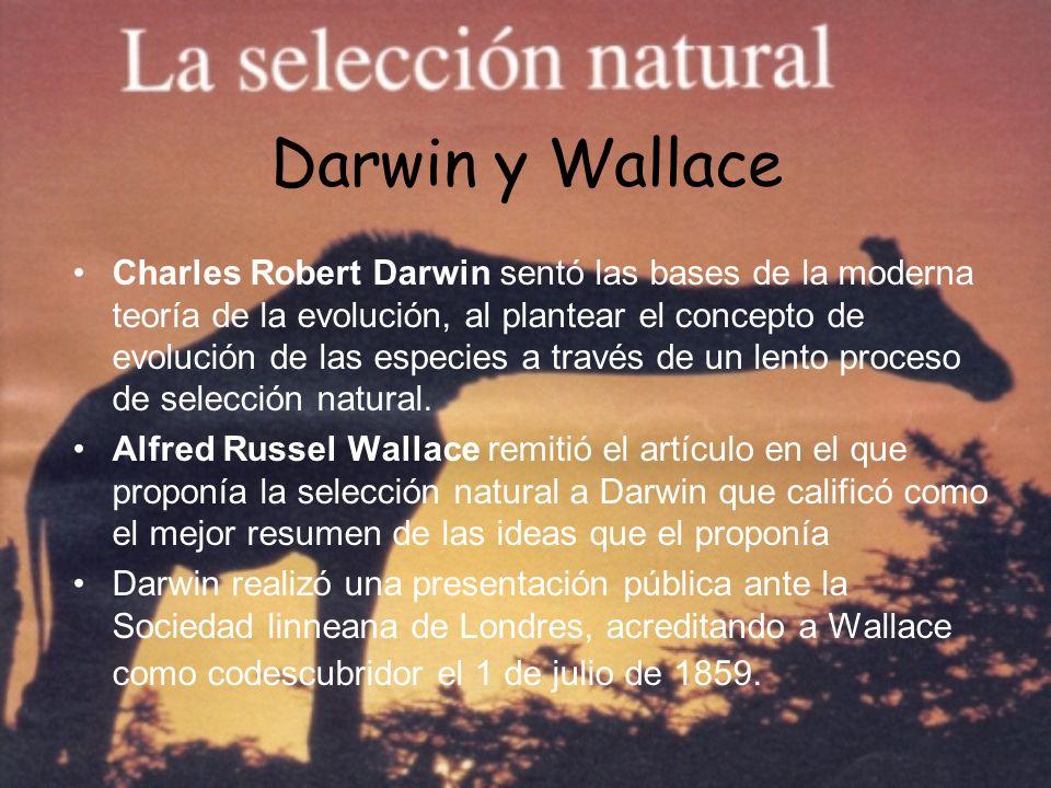 Darwin y Wallace