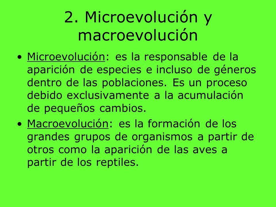 2. Microevolución y macroevolución
