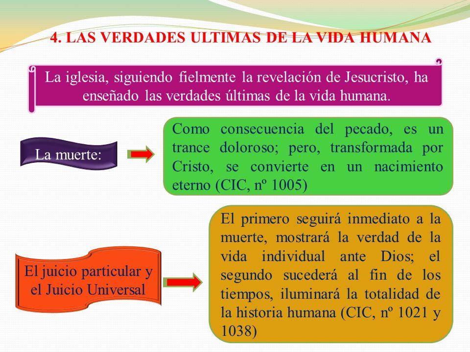 4. LAS VERDADES ULTIMAS DE LA VIDA HUMANA