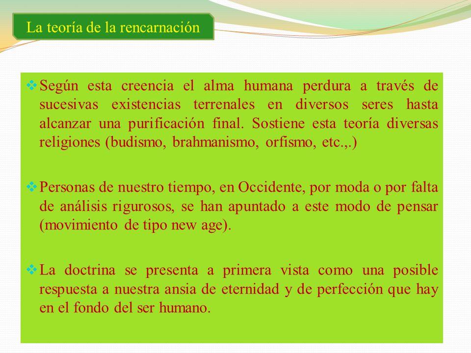 La teoría de la rencarnación
