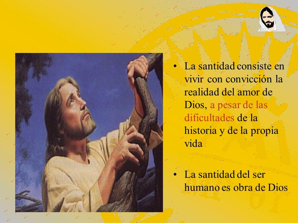 La santidad consiste en vivir con convicción la realidad del amor de Dios, a pesar de las dificultades de la historia y de la propia vida