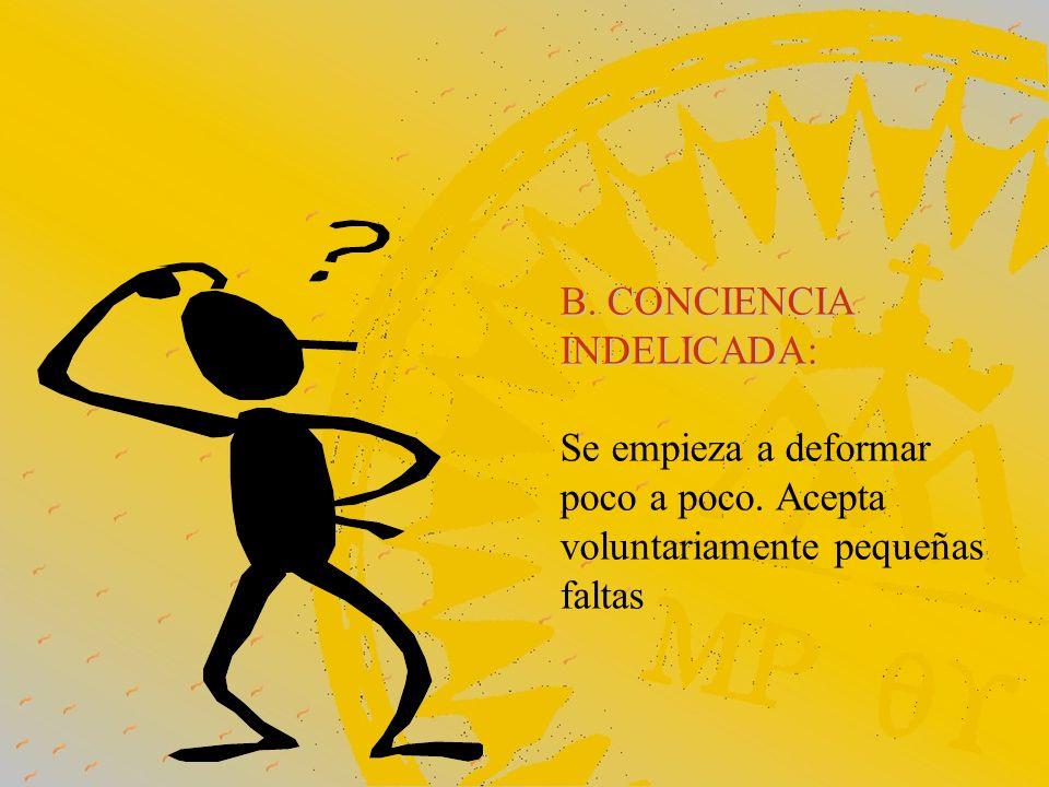 B. CONCIENCIA INDELICADA: