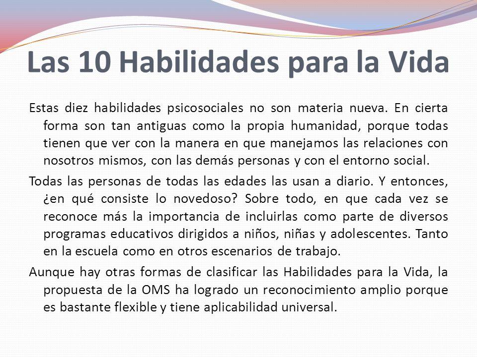Las 10 Habilidades para la Vida