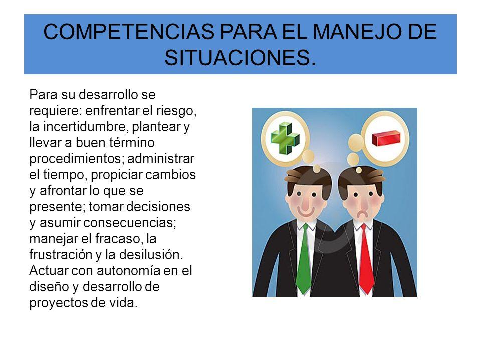 COMPETENCIAS PARA EL MANEJO DE SITUACIONES.