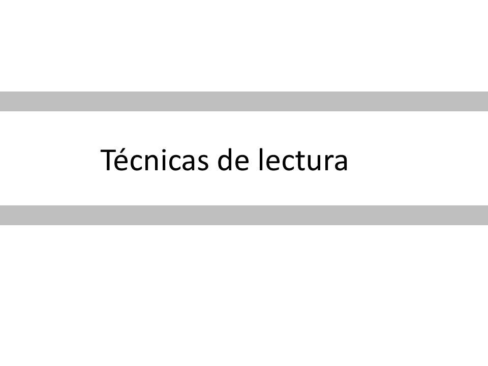 Técnicas de lectura