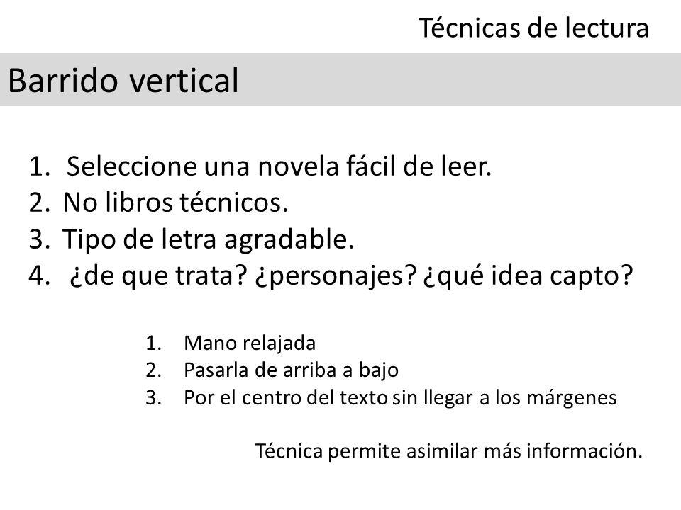Barrido vertical Técnicas de lectura