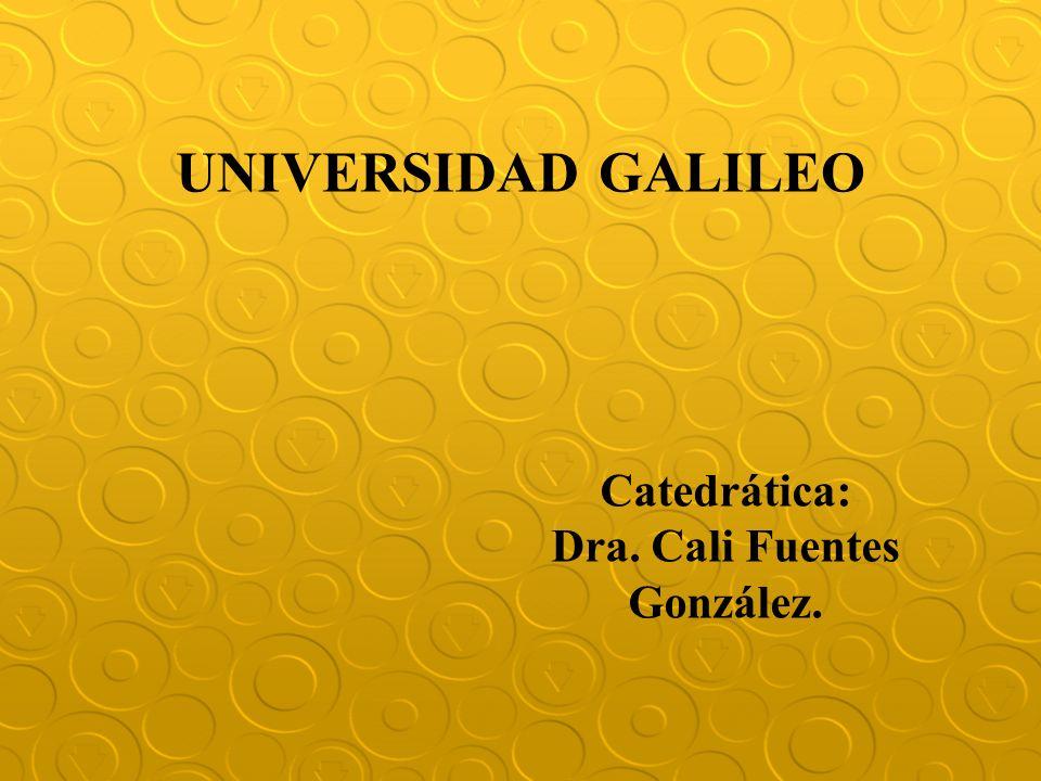 Dra. Cali Fuentes González.