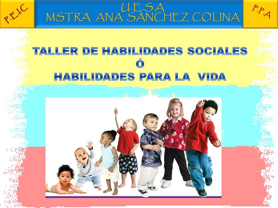 TALLER DE HABILIDADES SOCIALES Ó HABILIDADES PARA LA VIDA