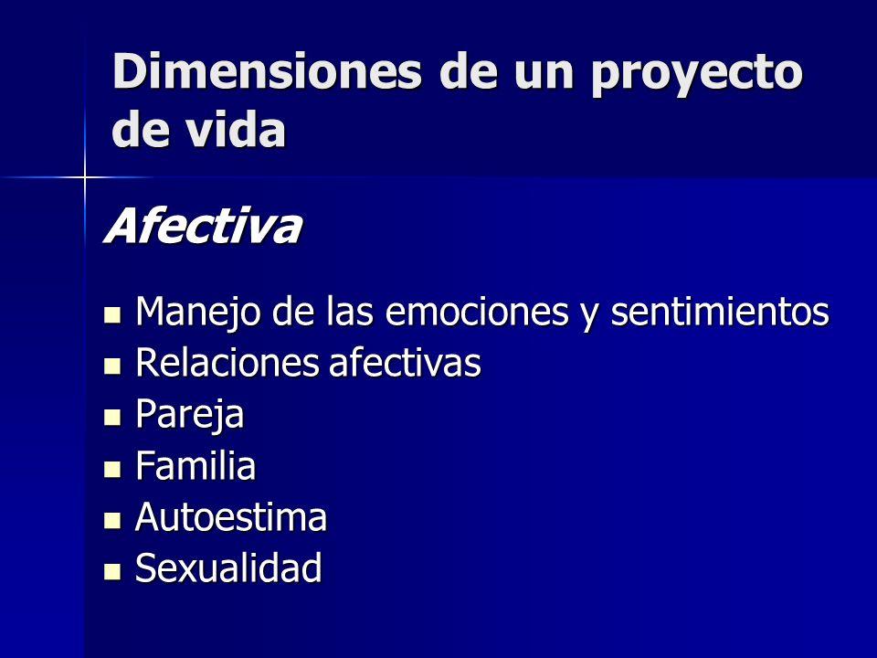 Dimensiones de un proyecto de vida