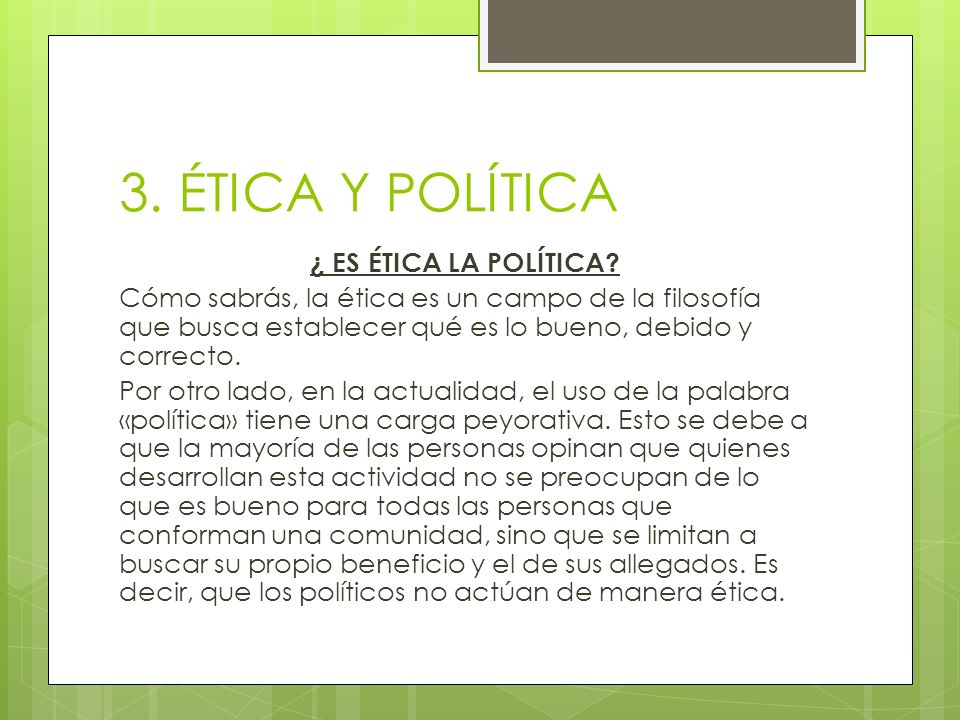 3. ÉTICA Y POLÍTICA