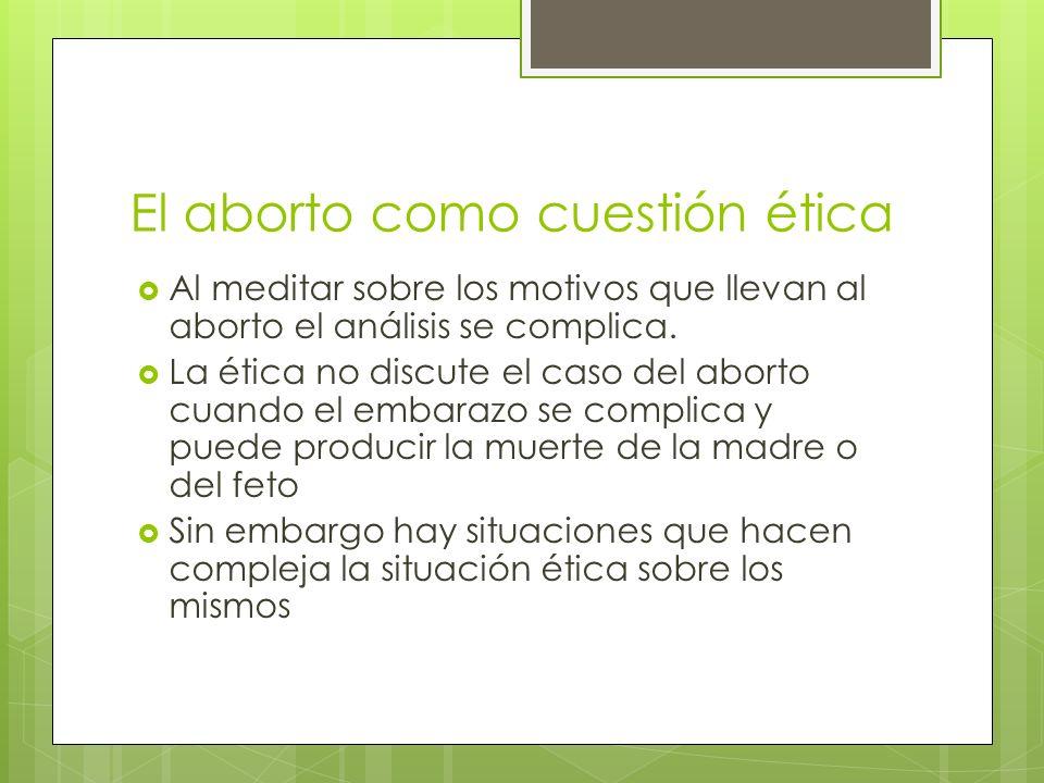 El aborto como cuestión ética
