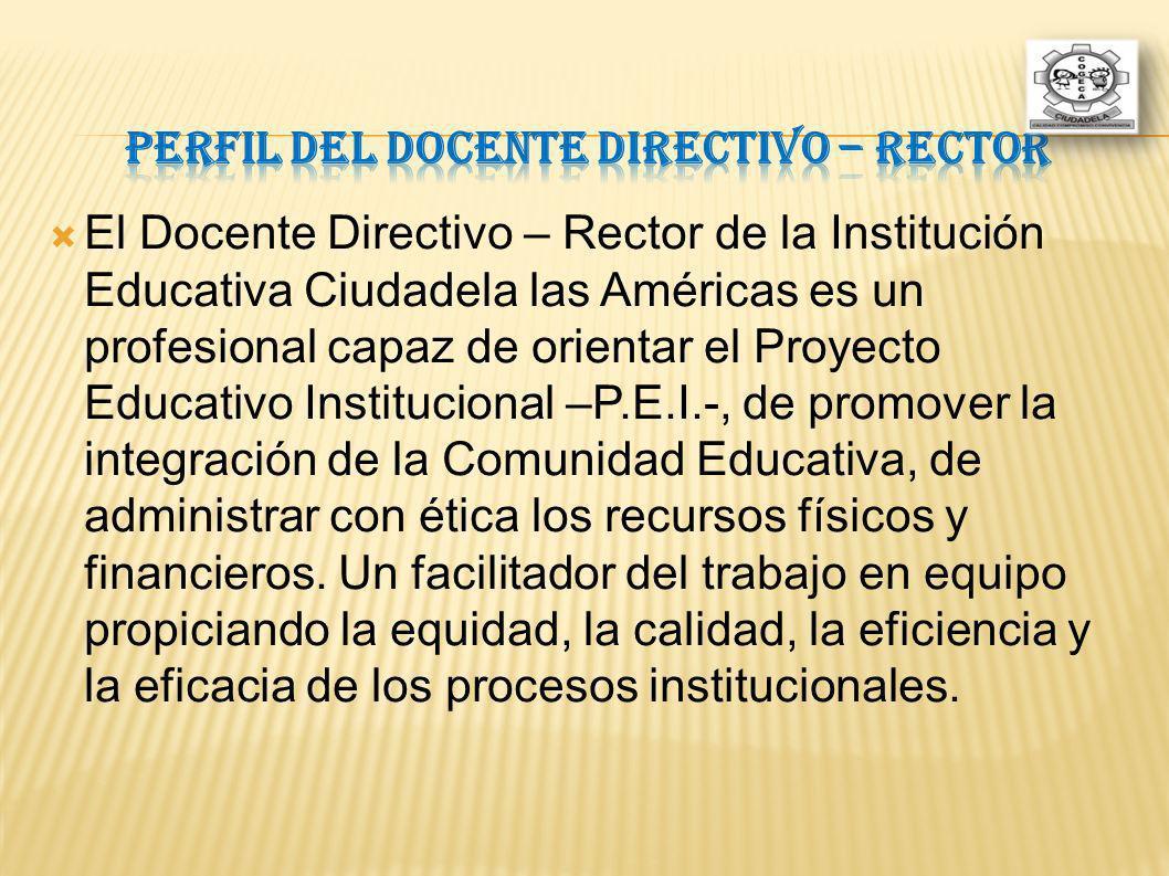 Perfil del Docente Directivo – Rector