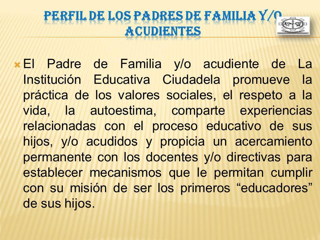 Perfil de los Padres de Familia y/o Acudientes